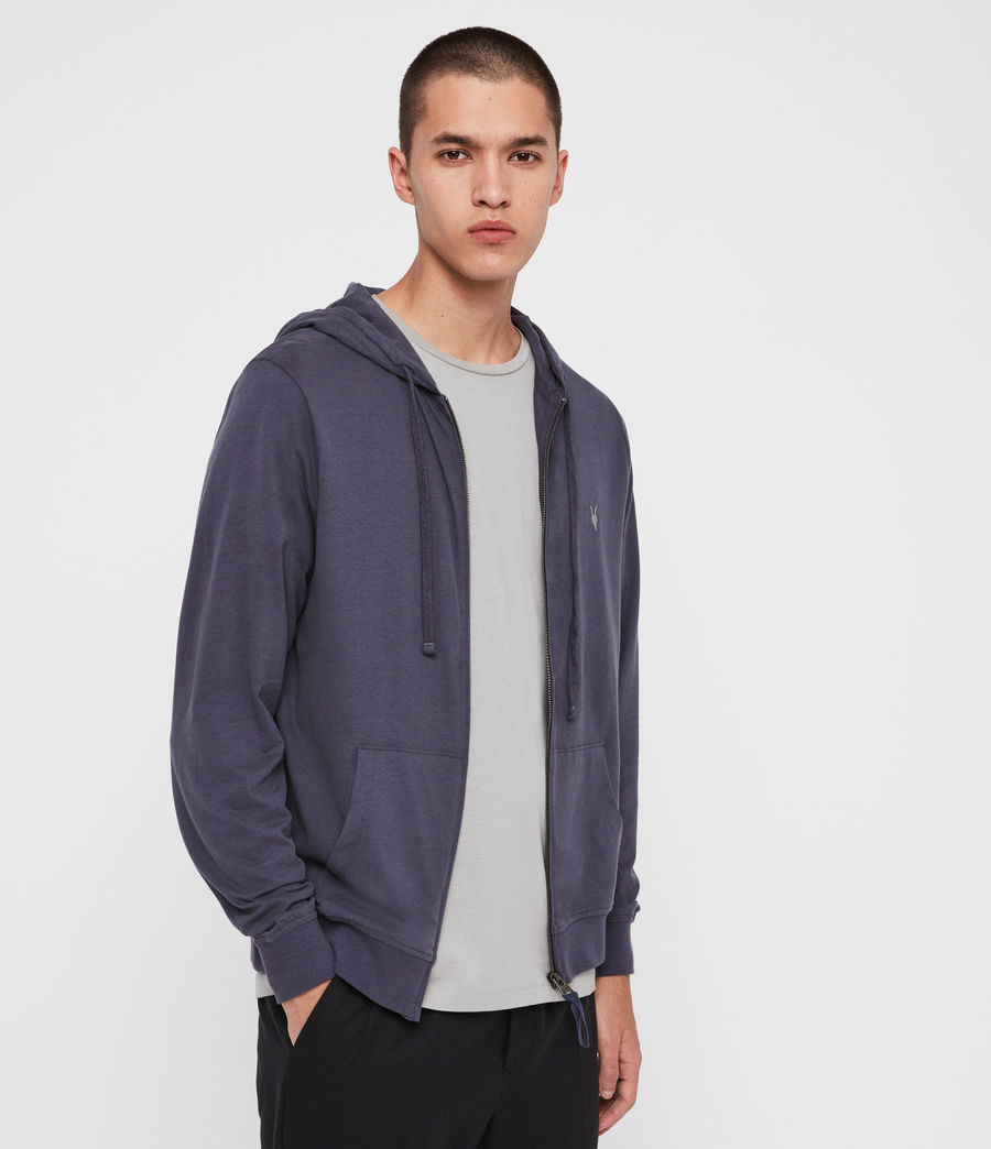 Hombres Sudadera con Capucha Brace Zip (charcoal_marl) - Image 1