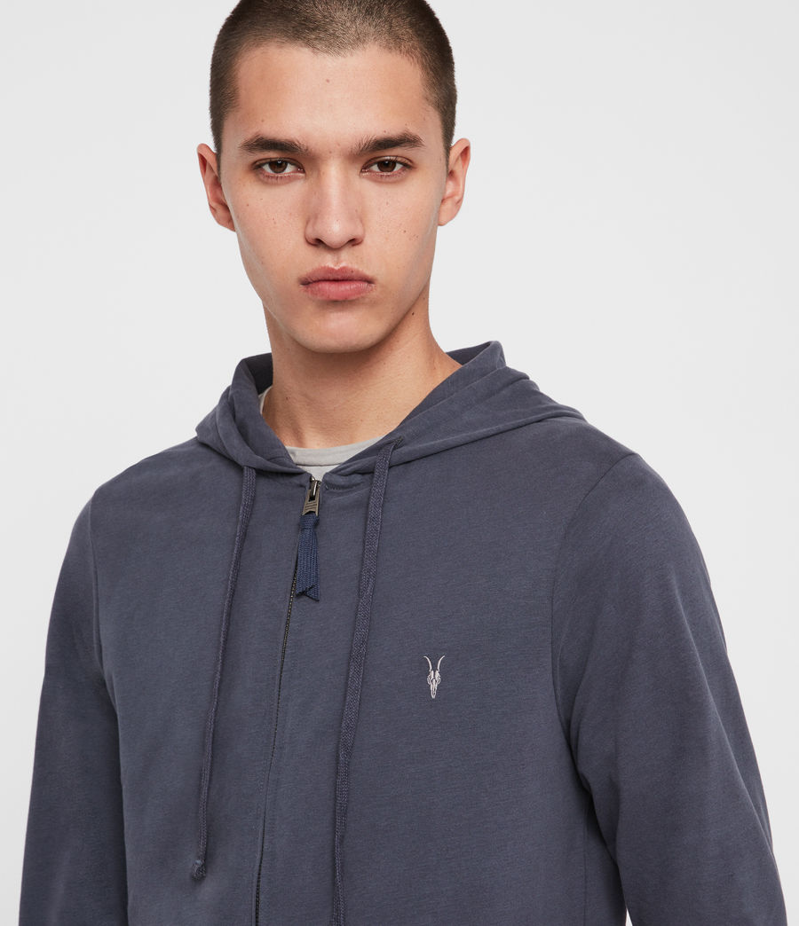 Hombres Sudadera con Capucha Brace Zip (charcoal_marl) - Image 2