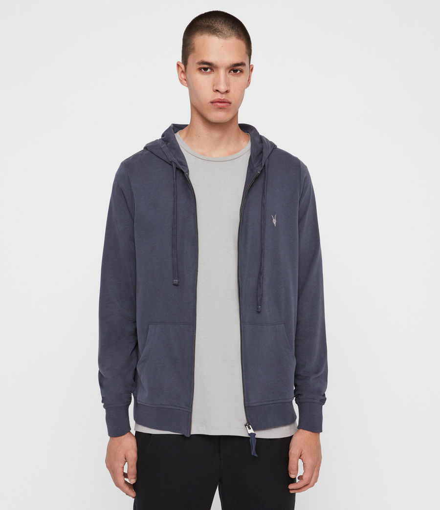 Hombres Sudadera con Capucha Brace Zip (charcoal_marl) - Image 4
