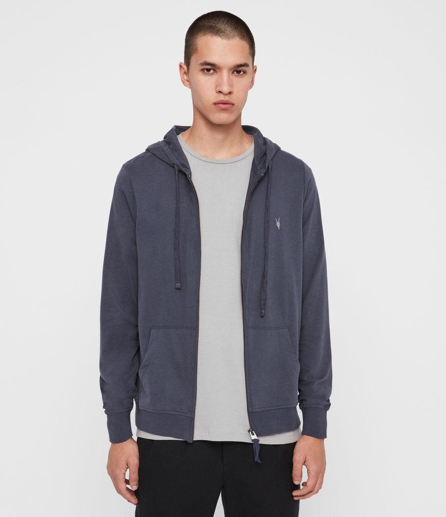 Uomo Felpa Brace - In cotone con cappuccio e zip (pier_blue) - Image 4