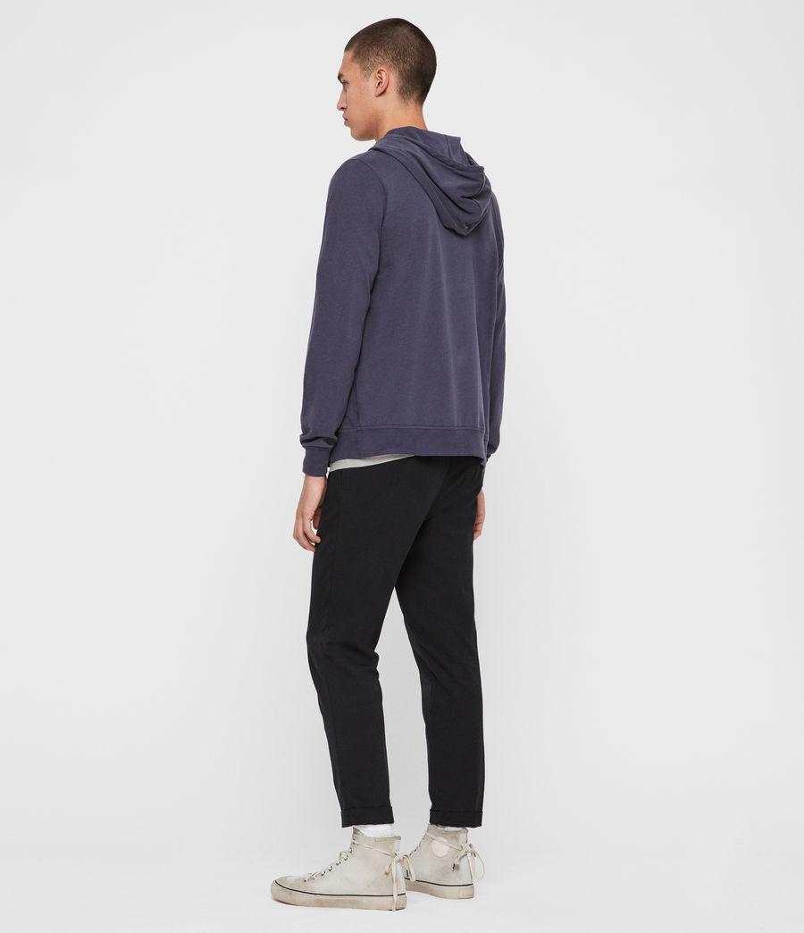 Uomo Felpa Brace - In cotone con cappuccio e zip (pier_blue) - Image 5