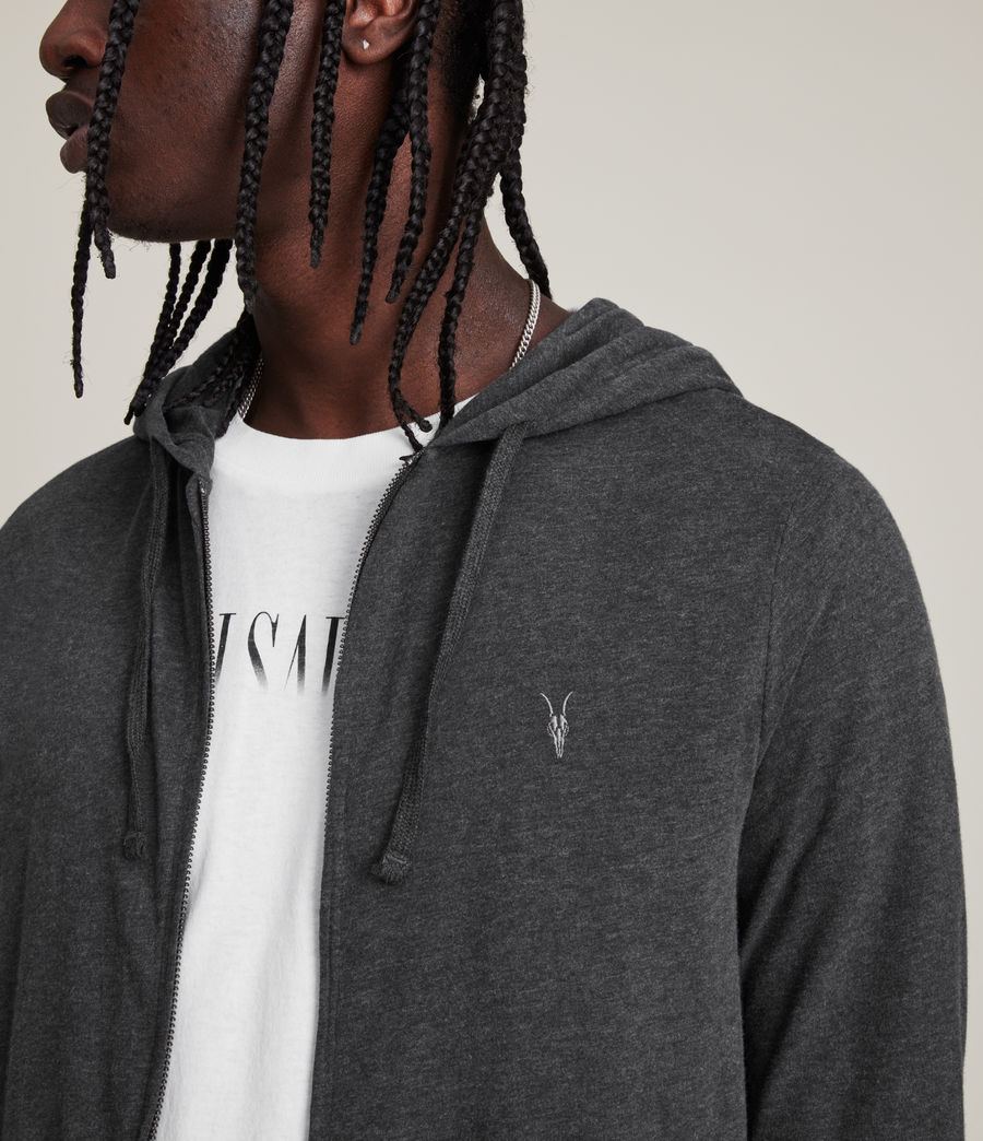 Hombres Sudadera con capucha Brace (charcoal_marl) - Image 2