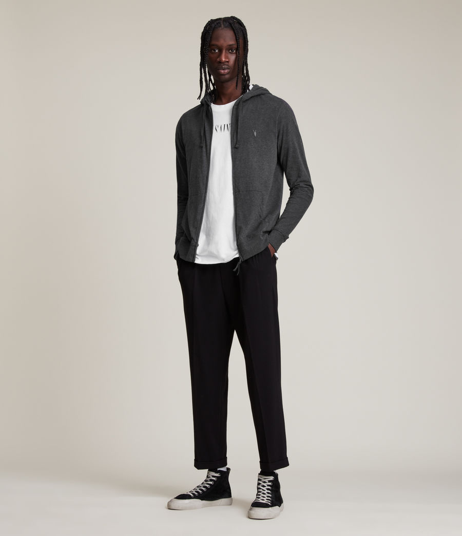 Hombres Sudadera con capucha Brace (charcoal_marl) - Image 3