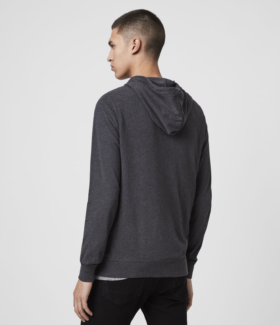 Hombres Sudadera con Capucha Brace Zip (charcoal_marl) - Image 5