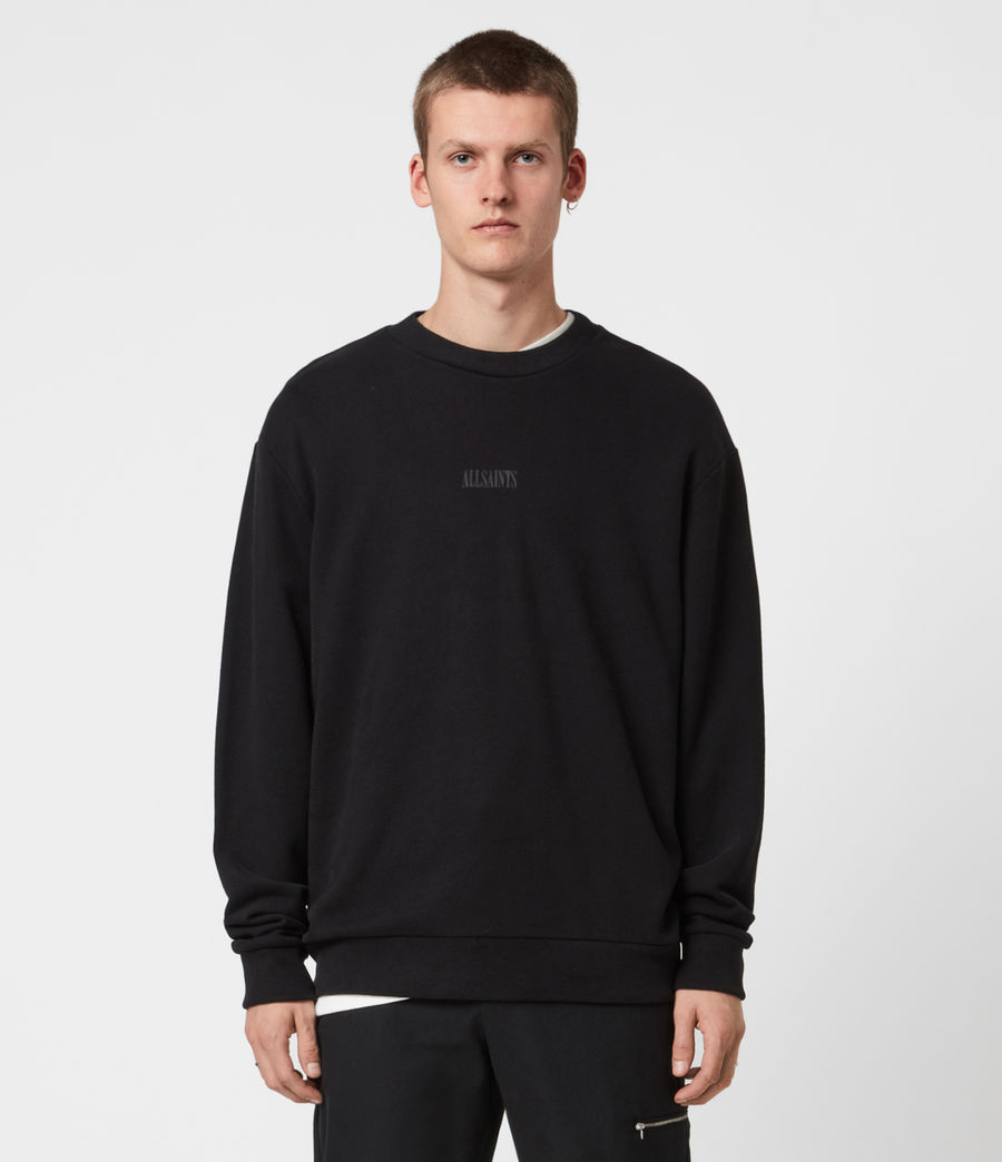Men's Element Crew Sweatshirt (jet_black) - Image 1