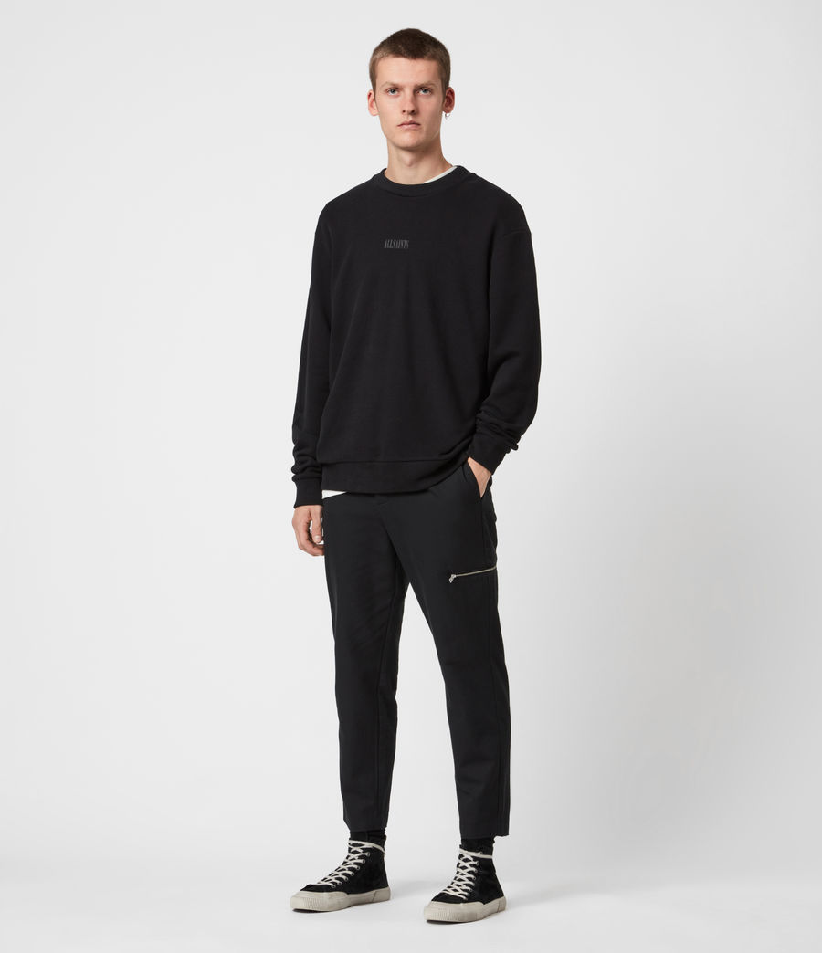 Men's Element Crew Sweatshirt (jet_black) - Image 4
