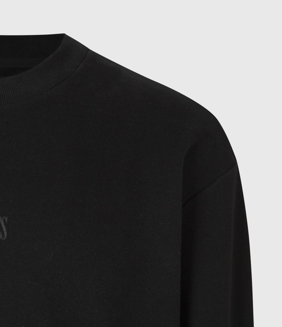 Men's Element Crew Sweatshirt (jet_black) - Image 6