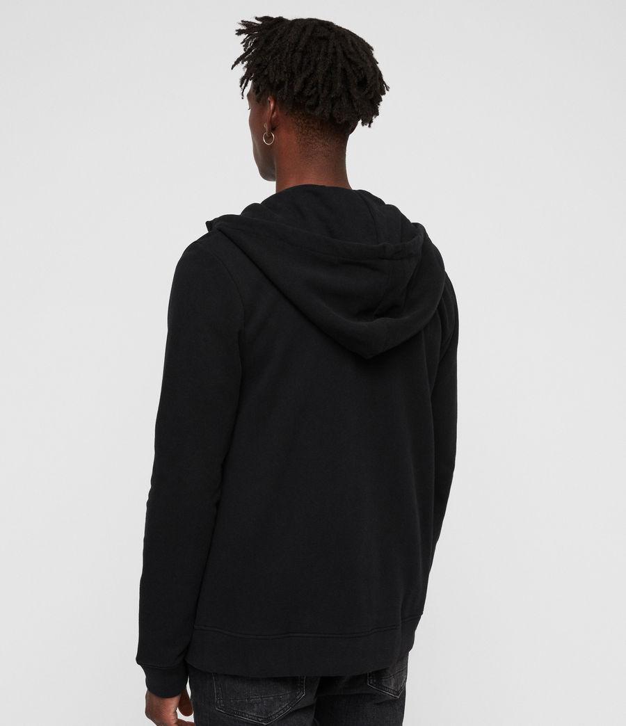 Mens Raven Funnel Hoodie (black) - Image 5