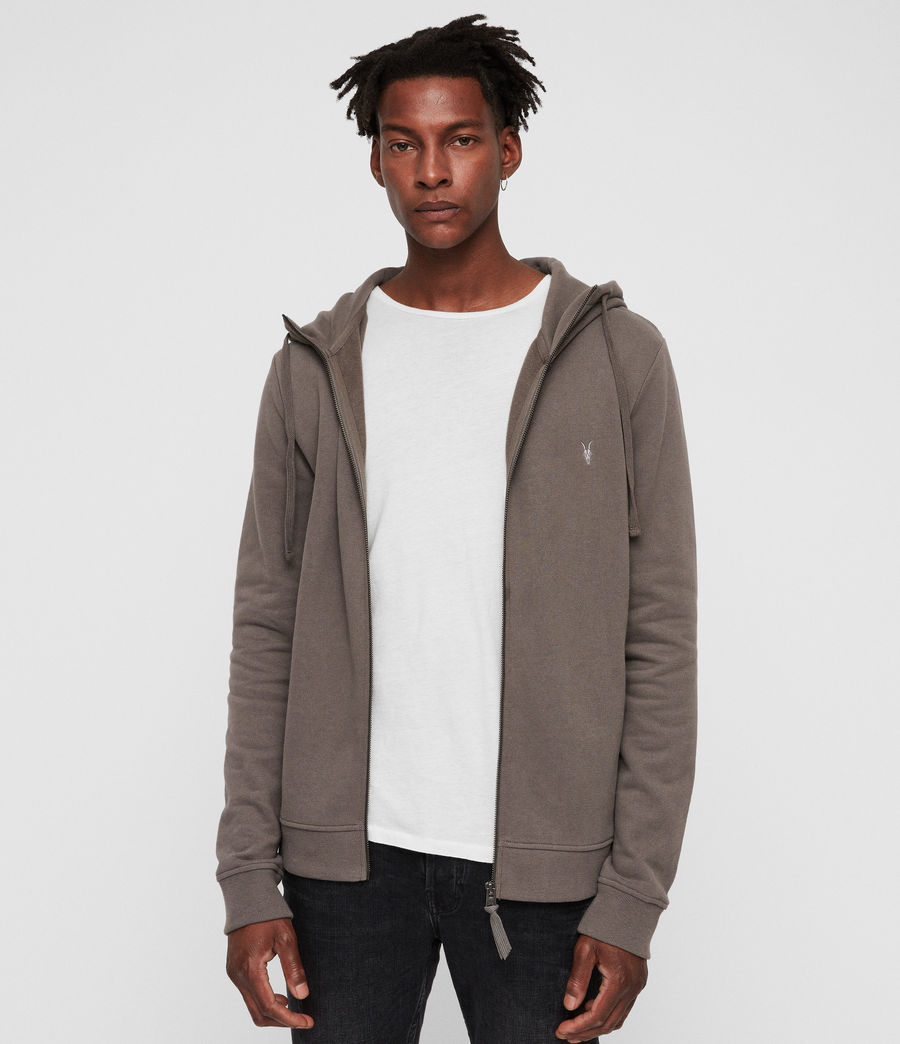Men's Raven Funnel Hoodie (core_grey) - Image 1