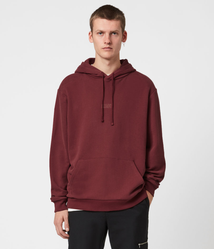 Men's Element Pullover Hoodie (juneberry_red) - Image 1