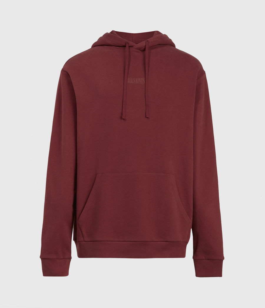 Men's Element Pullover Hoodie (juneberry_red) - Image 2