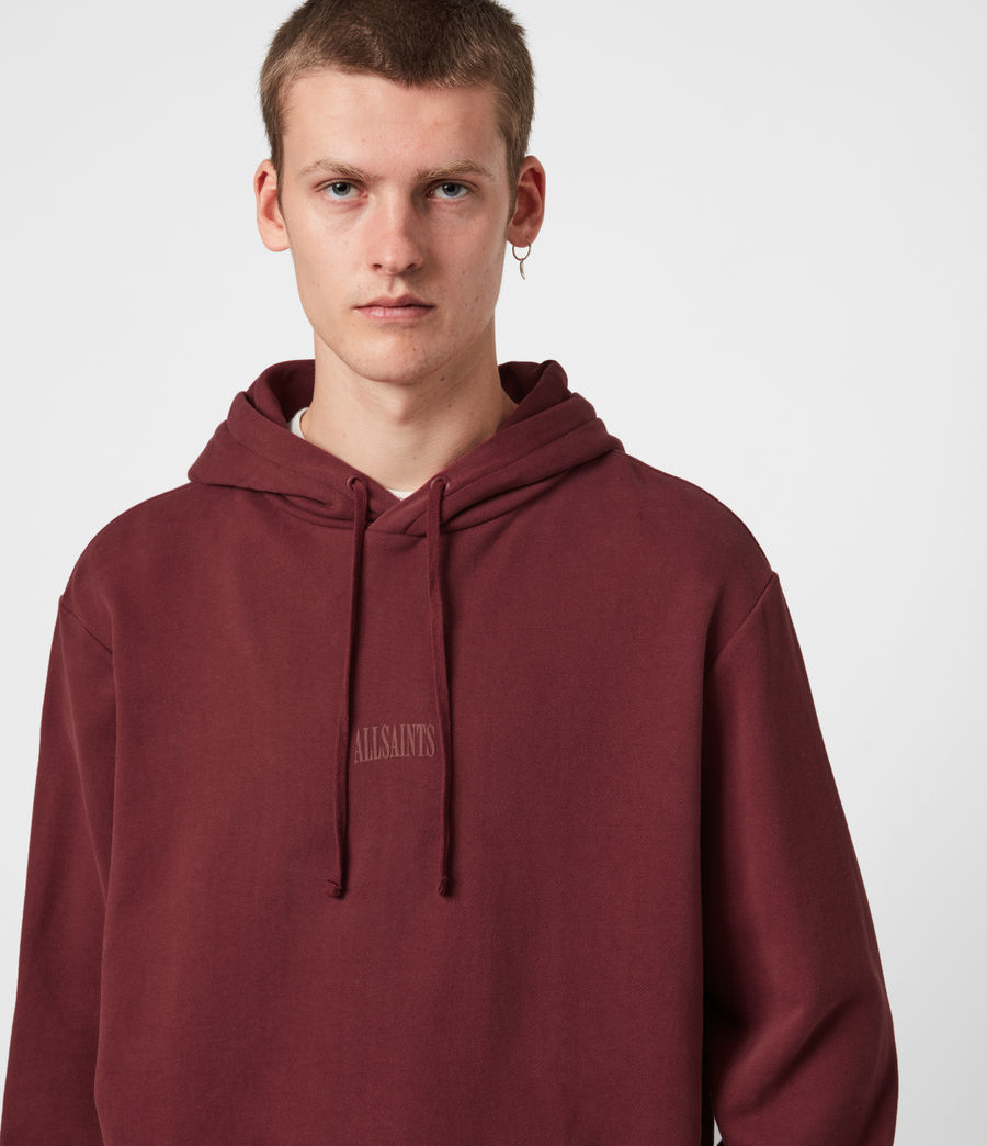 Men's Element Pullover Hoodie (juneberry_red) - Image 4