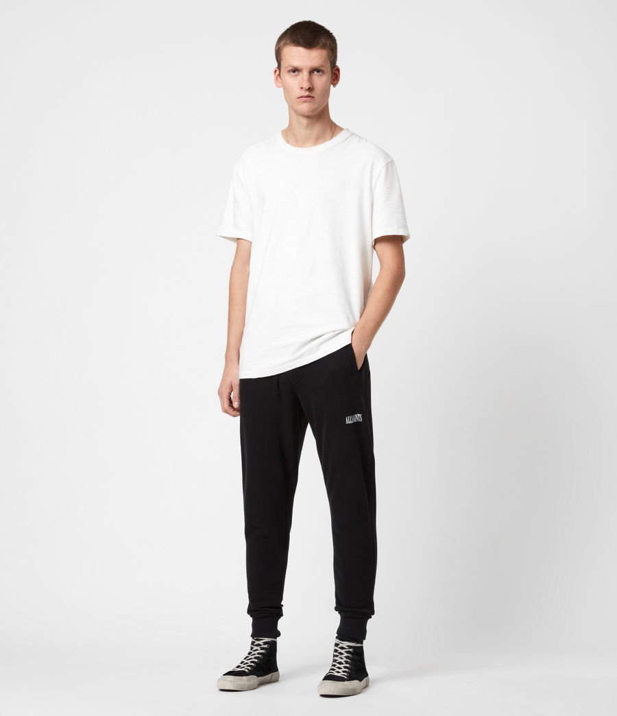 Mens State Slim Cuffed Sweatpants (jet_black) - Image 4