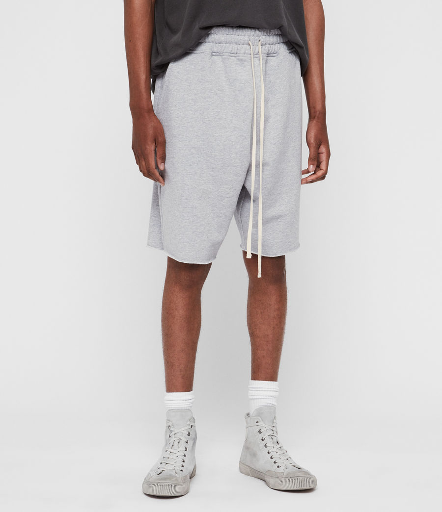 Mens Avio Sweat Shorts (grey_marl) - Image 2