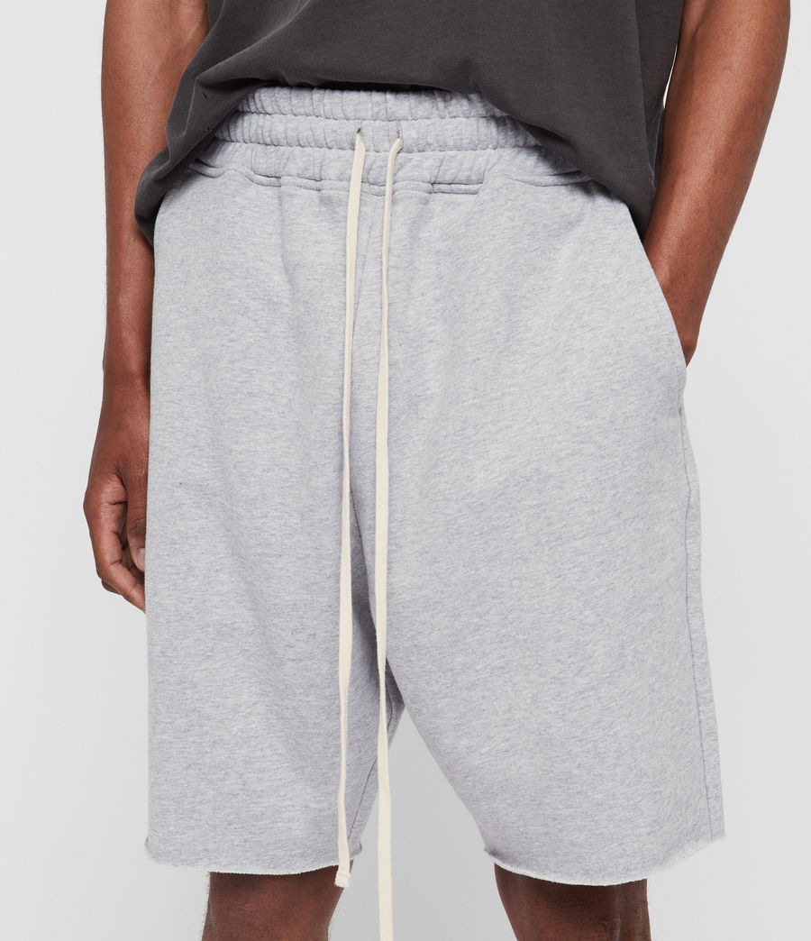 Mens Avio Sweat Shorts (grey_marl) - Image 4