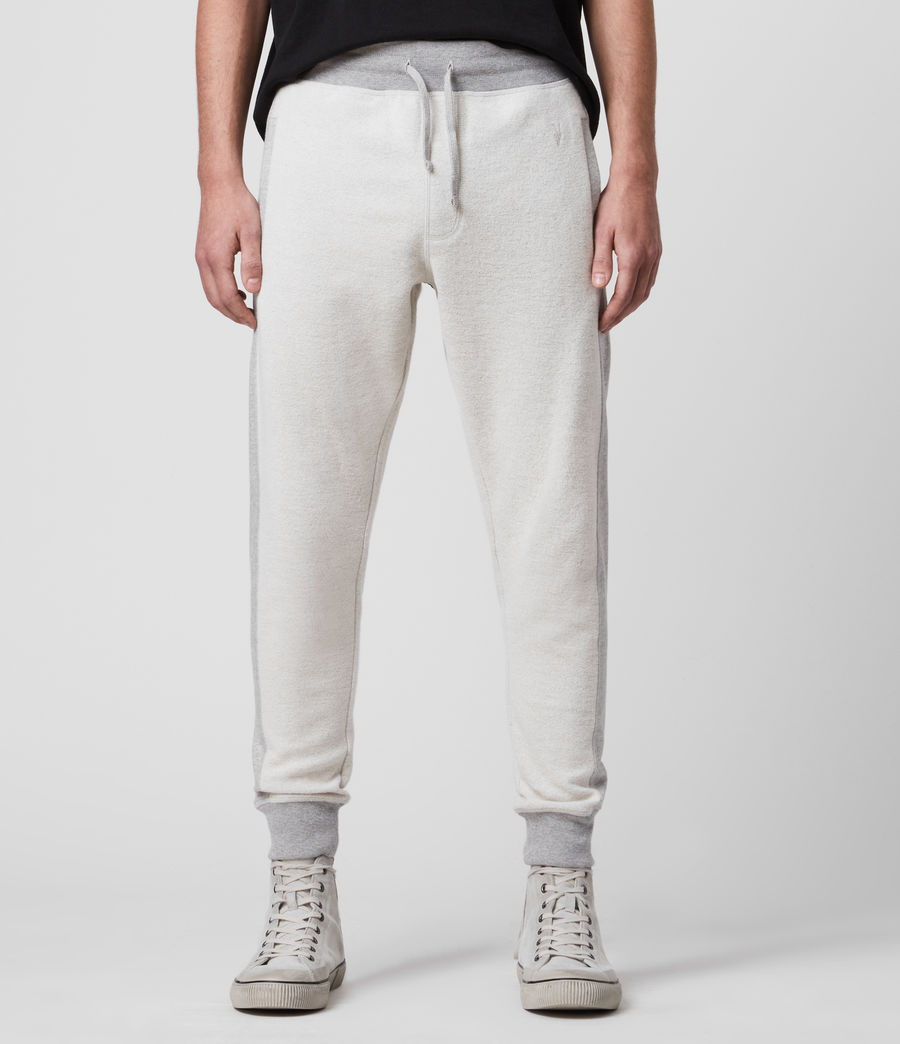 Hombre Reverser Cuffed Slim Sweatpants (mid_grey_marl) - Image 1
