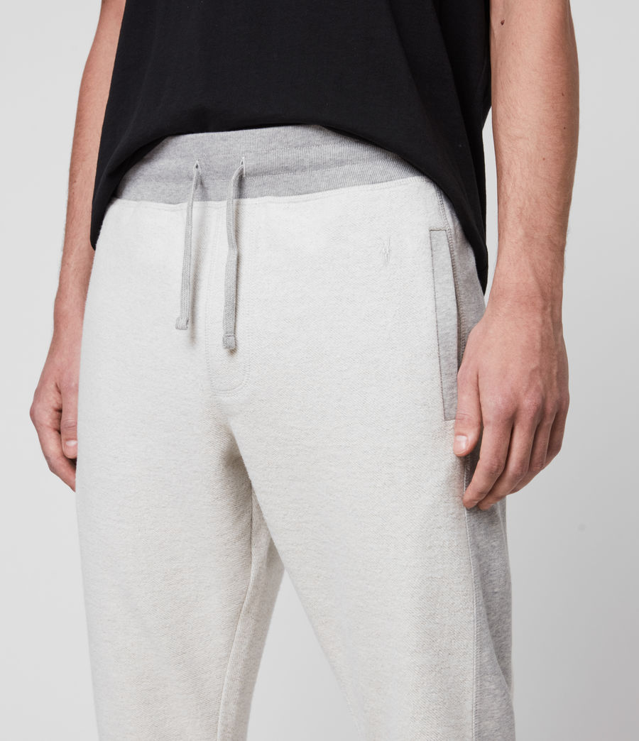 Hombre Reverser Cuffed Slim Sweatpants (mid_grey_marl) - Image 2