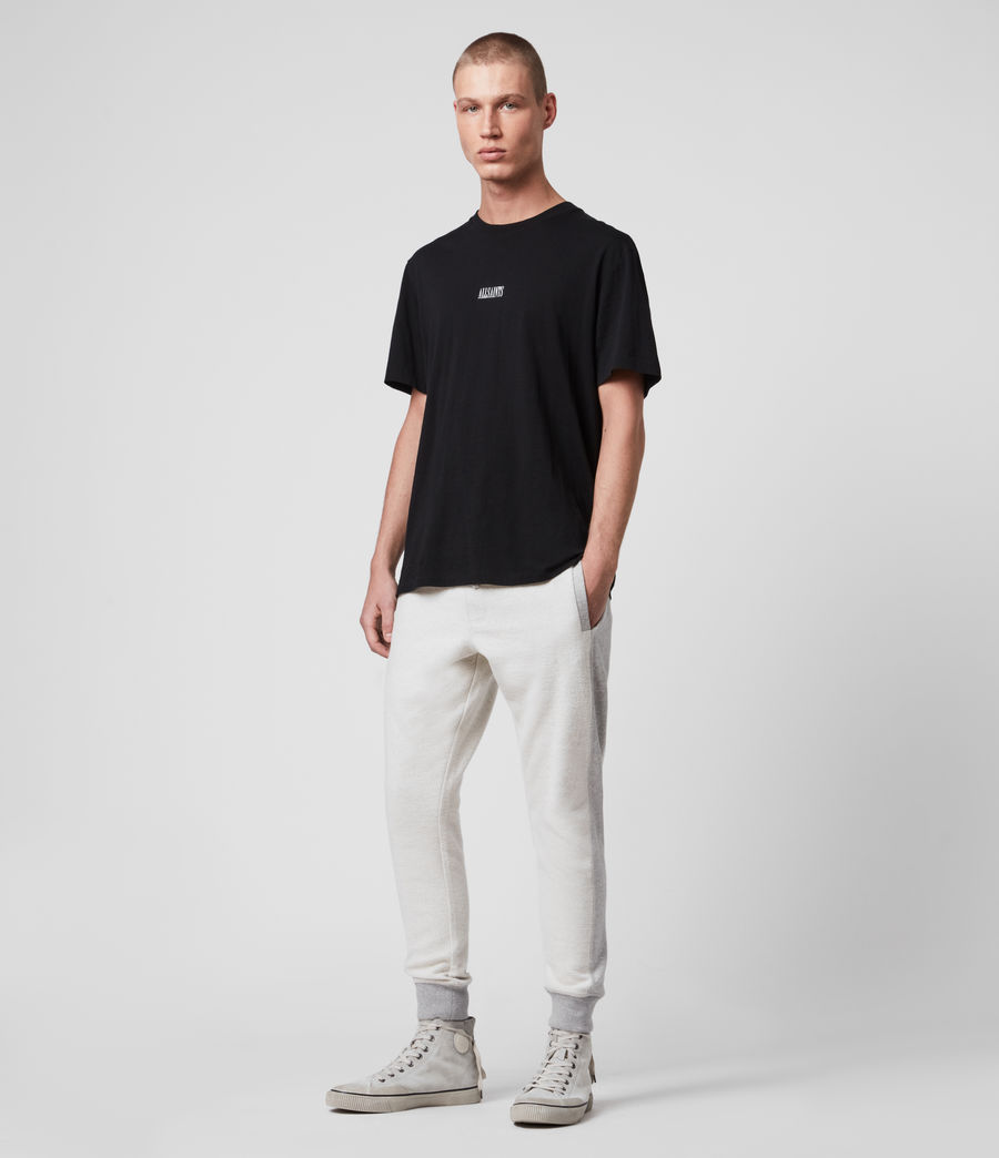 Hombre Reverser Cuffed Slim Sweatpants (mid_grey_marl) - Image 3