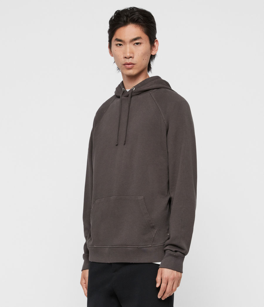 Mens Coil Pullover Hoodie (black) - Image 4