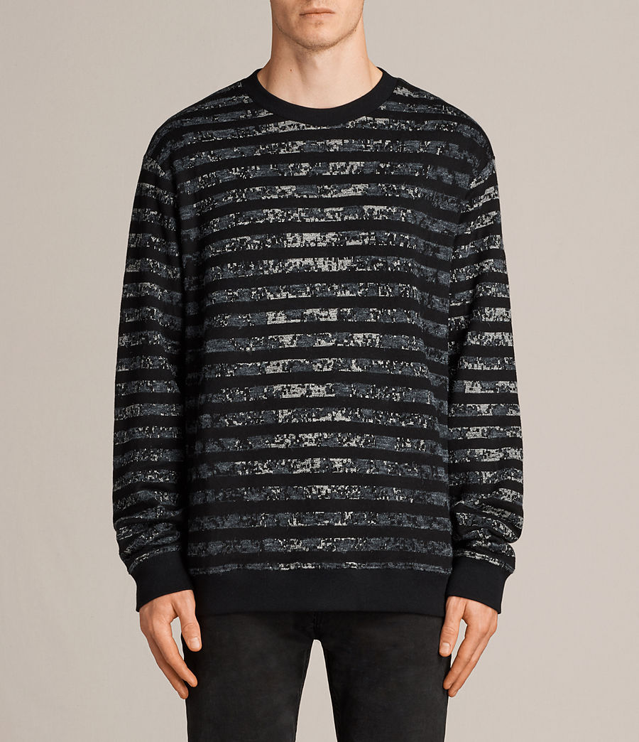 Hombres Sudadera Trico Leopard (charcoal_marl) - Image 1