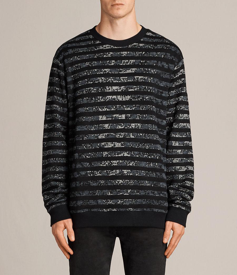 Men's Trico Leopard Crew Sweatshirt (charcoal_marl) - Image 1