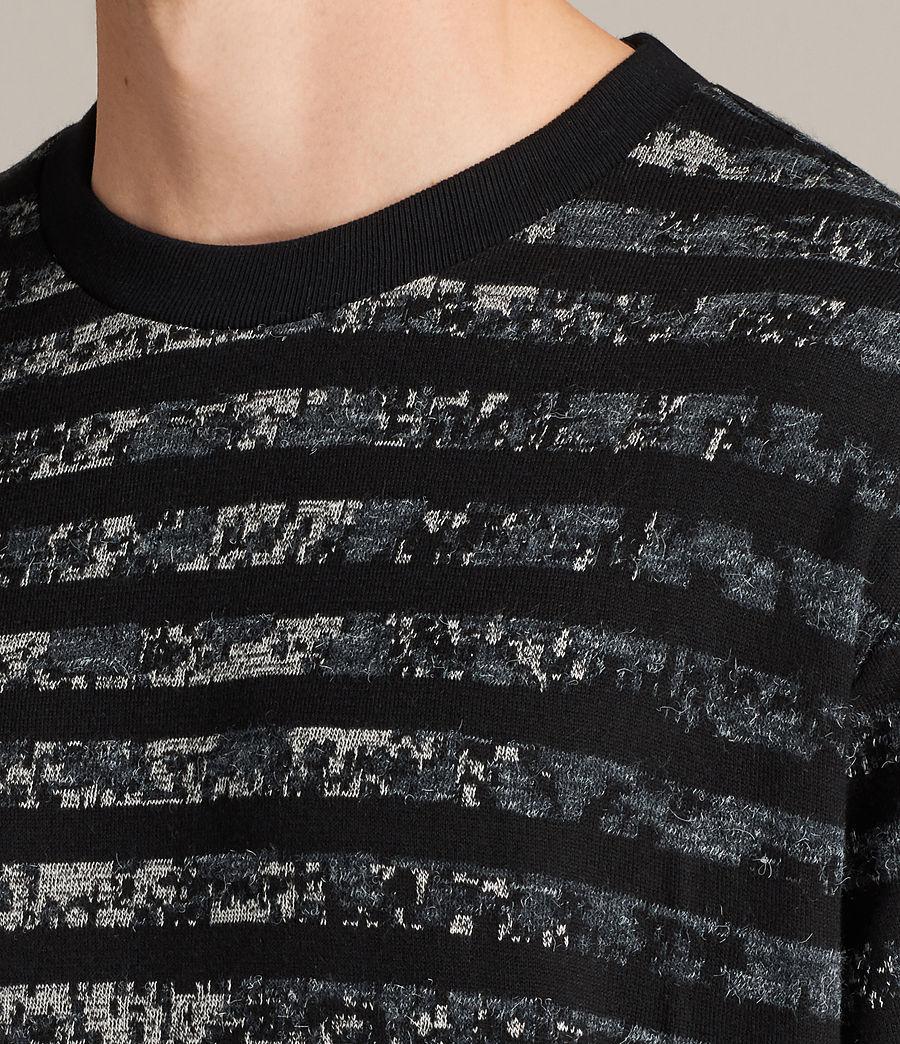 Men's Trico Leopard Crew Sweatshirt (charcoal_marl) - Image 2