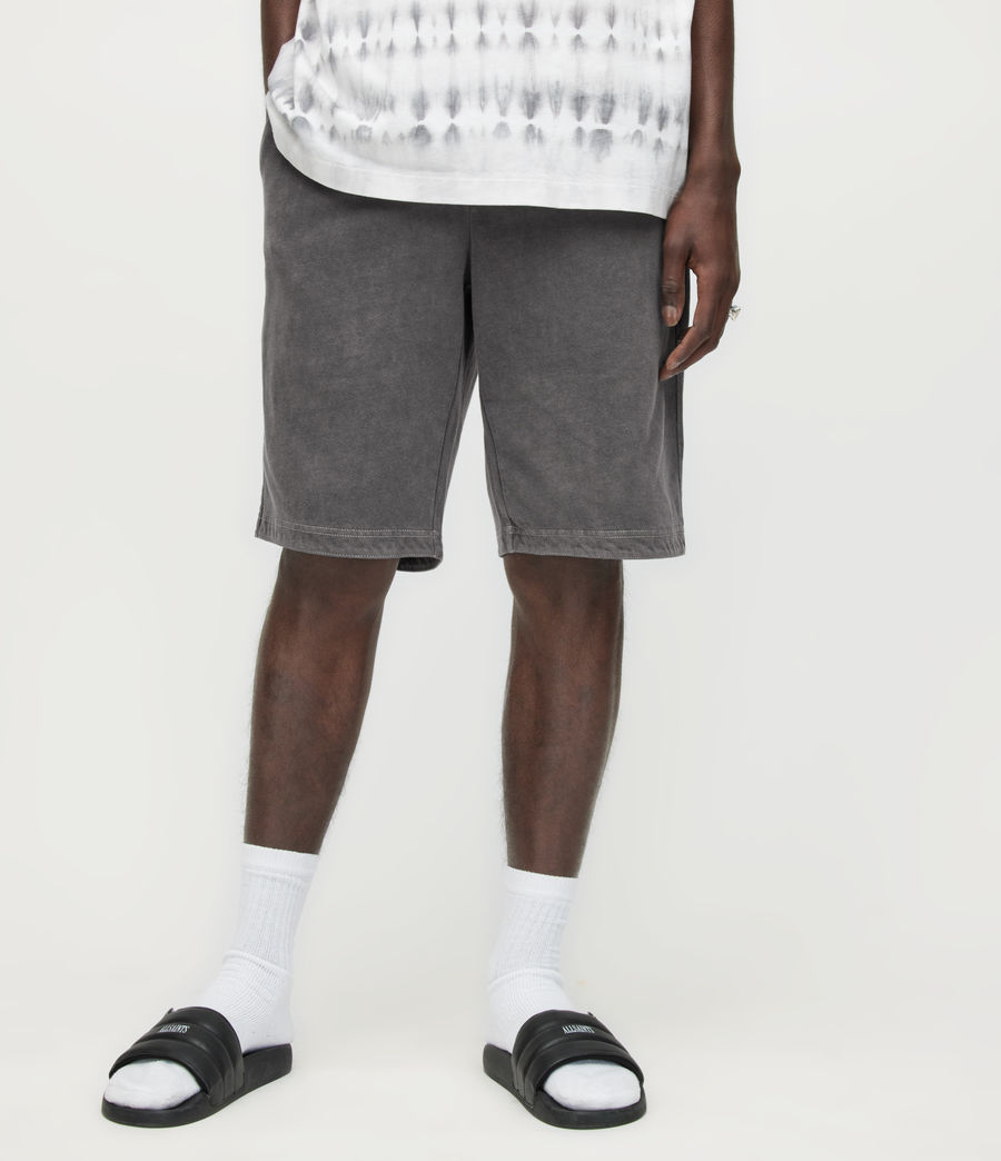 Herren Pierce Sweatshorts (washed_black) - Image 2