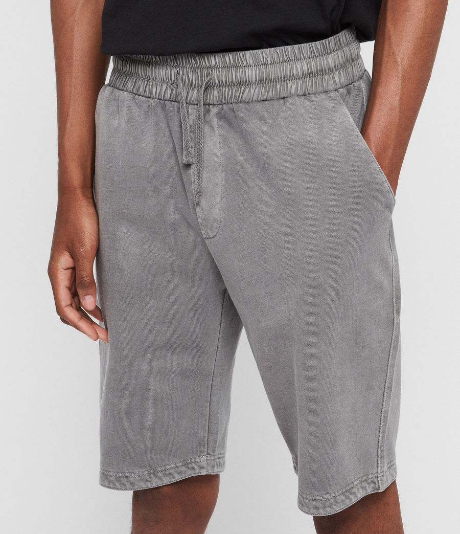 Mens Pierce Sweat Shorts (grey) - Image 4