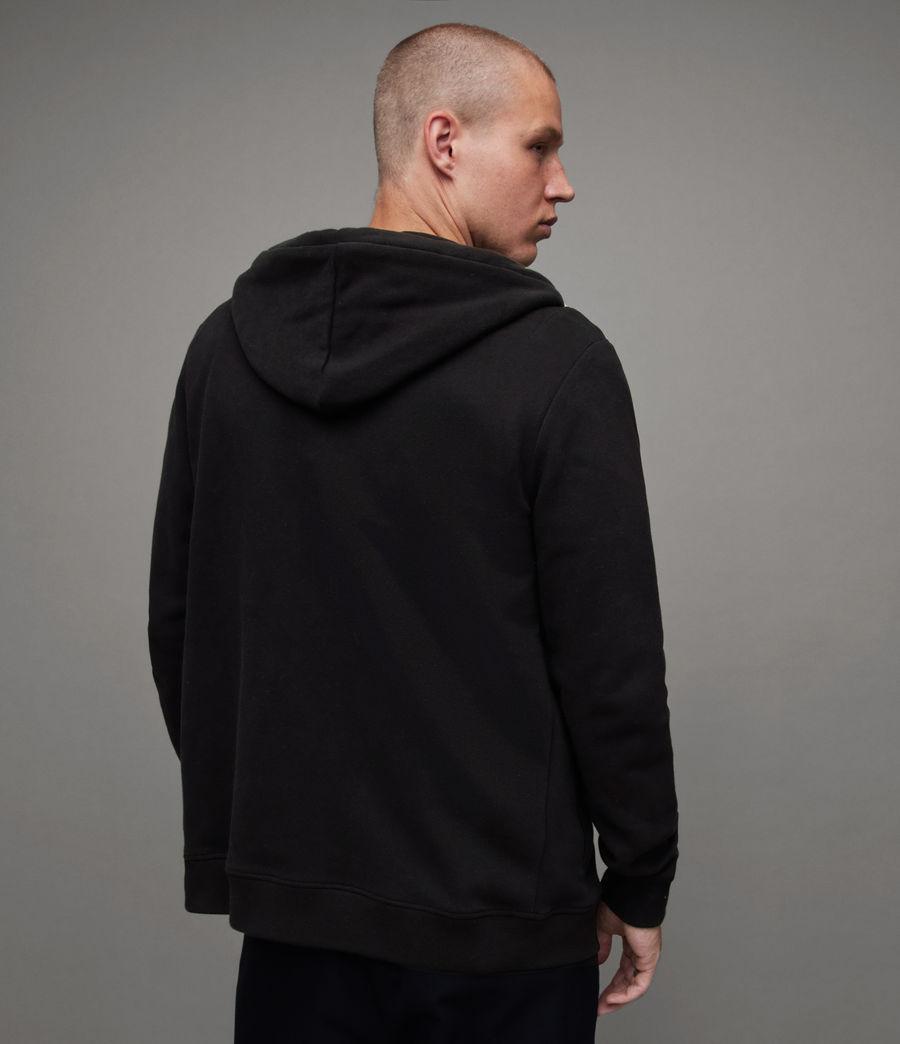 Uomo Felpa Raven - Slim in cotone con cappuccio e zip (black) - Image 4