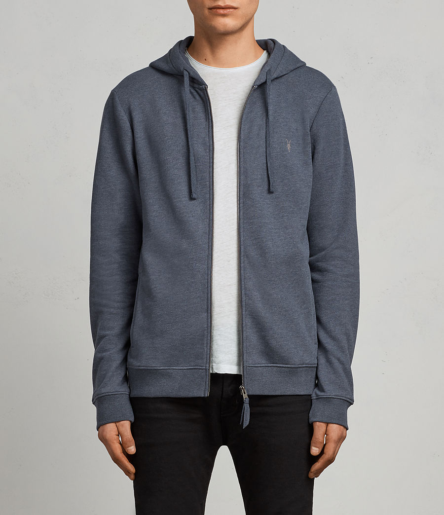 Men's Raven Hoody (washed_navy_marl) - Image 1
