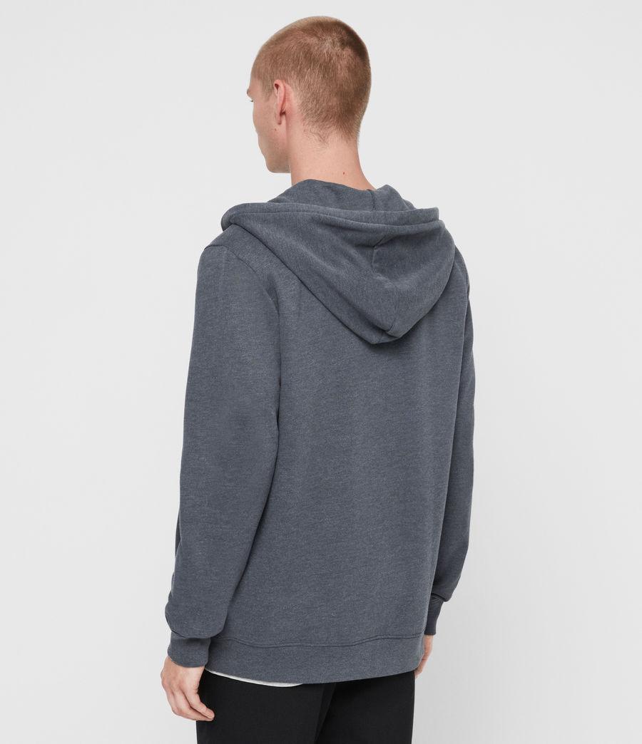 Uomo Felpa Raven - Slim in cotone con cappuccio e zip (black) - Image 5