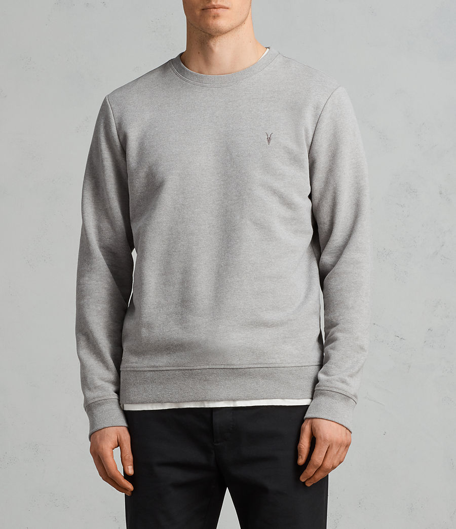 Mens Raven Crew Sweatshirt (putty_grey_marl) - Image 1