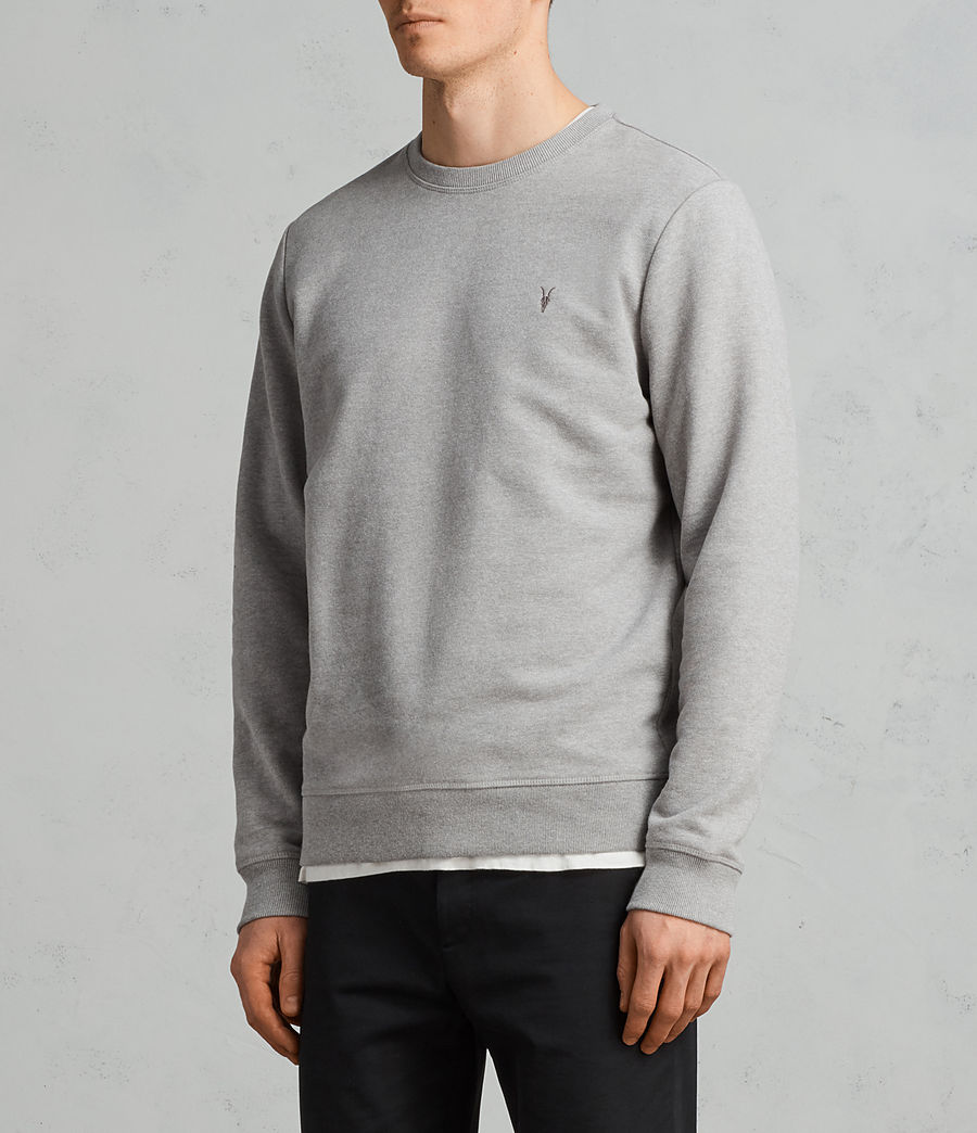 Mens Raven Crew Sweatshirt (putty_grey_marl) - Image 3