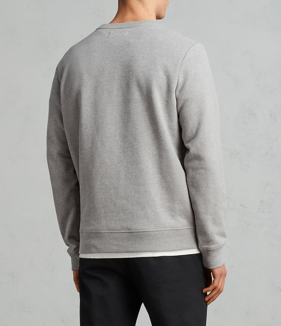 Mens Raven Crew Sweatshirt (putty_grey_marl) - Image 5
