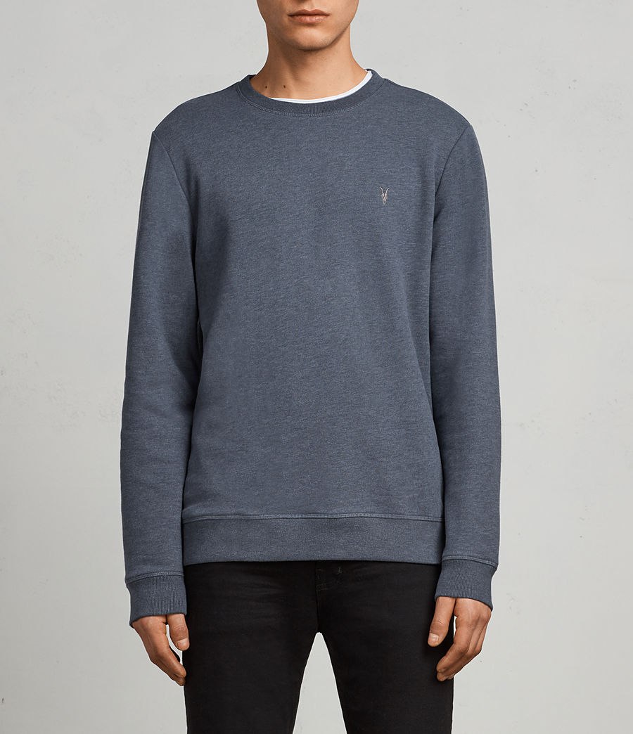 Men's Raven Sweatshirt (washed_navy_marl) - Image 1