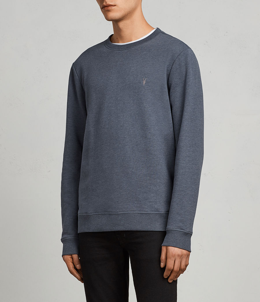 Men's Raven Crew Sweatshirt (washed_navy_marl) - Image 3
