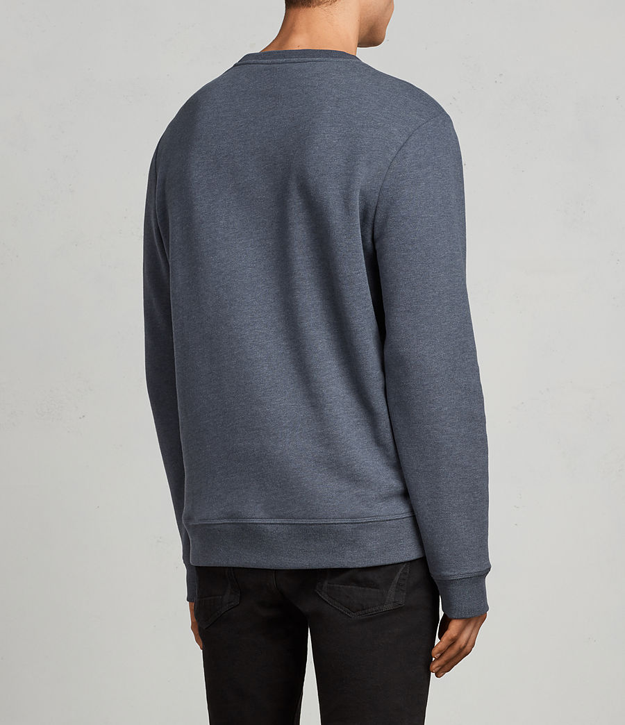 Men's Raven Crew Sweatshirt (washed_navy_marl) - Image 4