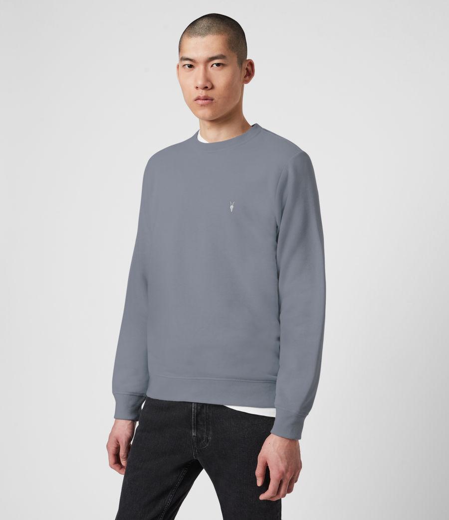 Mens Raven Crew Sweatshirt (ridge_blue_marl) - Image 2