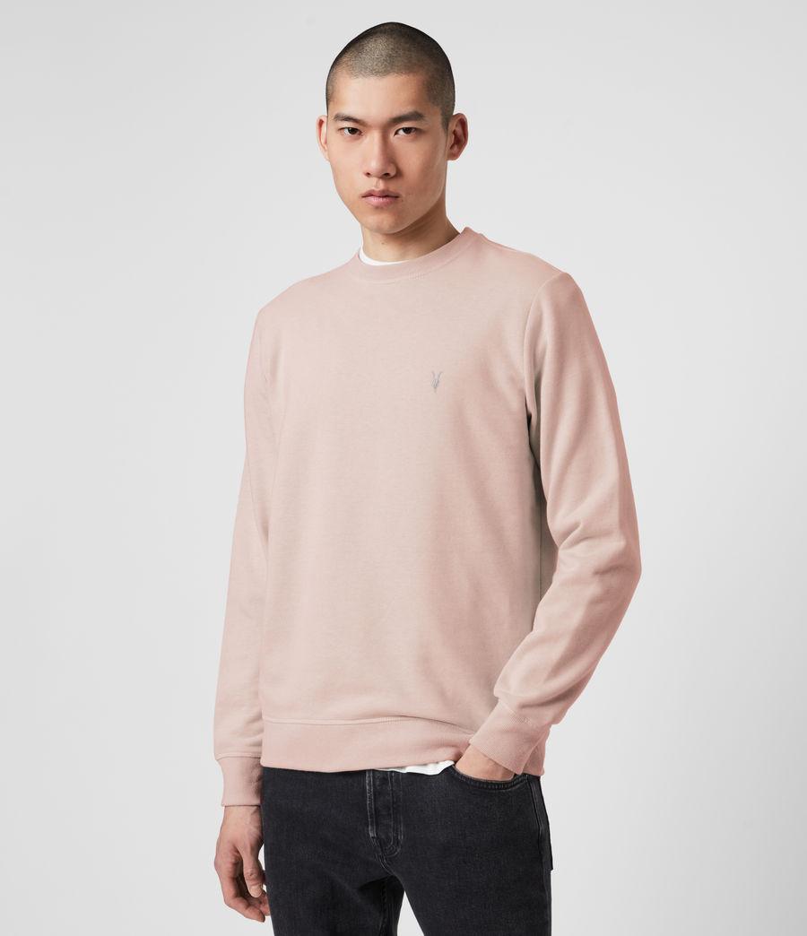Mens Raven Crew Sweatshirt (sunset_pink_marl) - Image 1