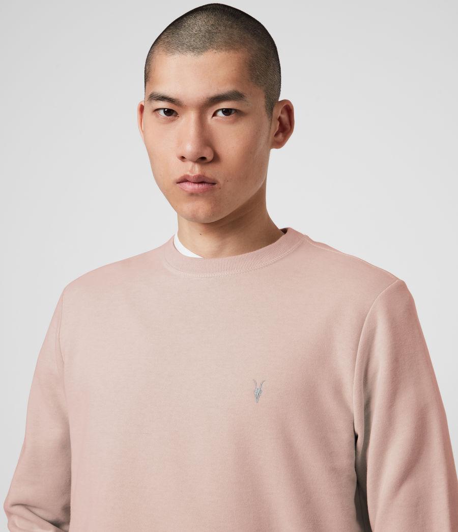 Mens Raven Crew Sweatshirt (sunset_pink_marl) - Image 2