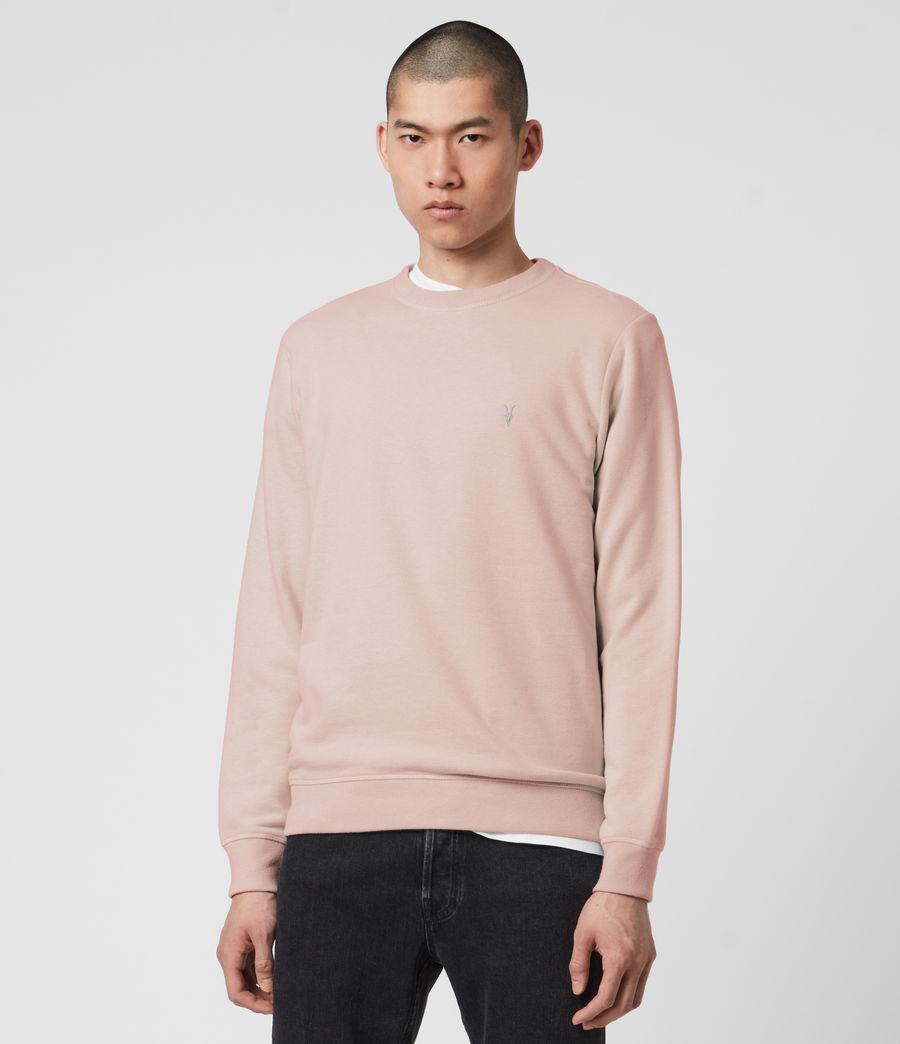Mens Raven Crew Sweatshirt (sunset_pink_marl) - Image 4