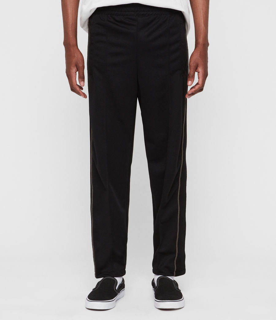 Men's Jasper Relaxed Trousers (jet_black_sheal) - Image 1