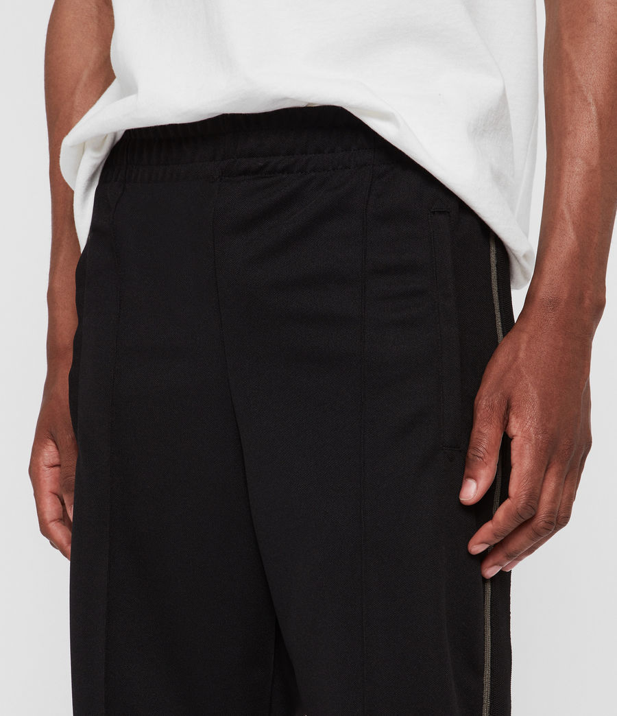Men's Jasper Relaxed Trousers (jet_black_sheal) - Image 2