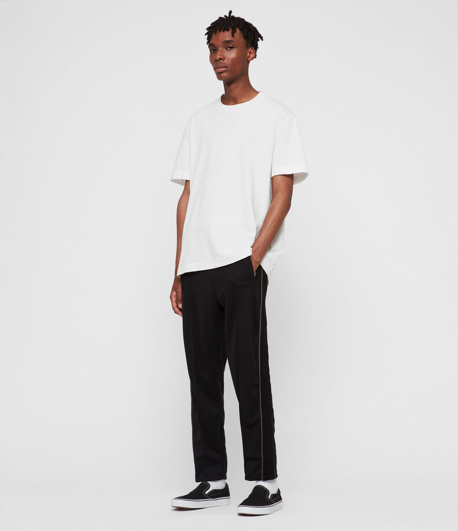 Men's Jasper Relaxed Trousers (jet_black_sheal) - Image 3