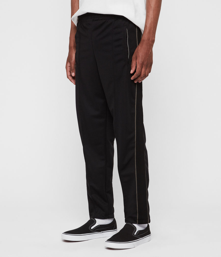 Men's Jasper Relaxed Trousers (jet_black_sheal) - Image 4