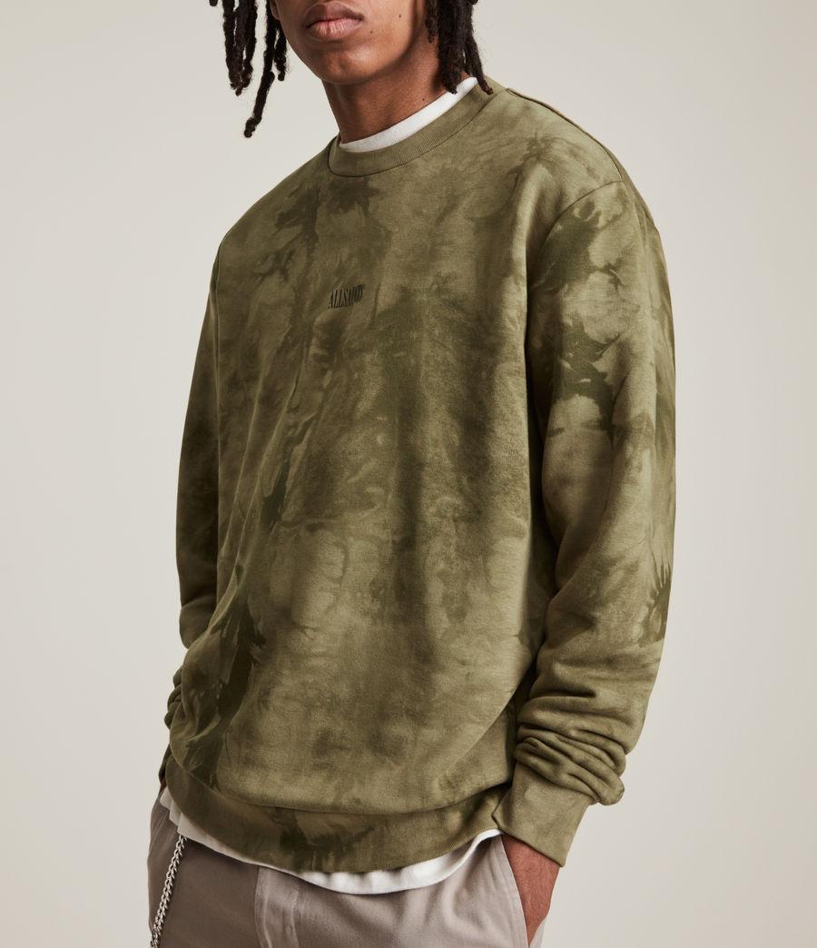 Men's Clay Tie Dye Crew Sweatshirt (sandalwood_brown) - Image 2