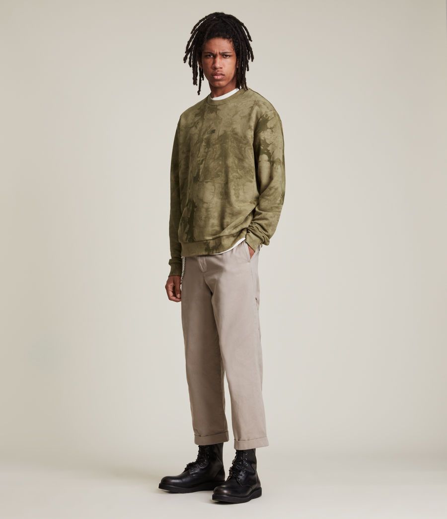 Men's Clay Tie Dye Crew Sweatshirt (sandalwood_brown) - Image 3