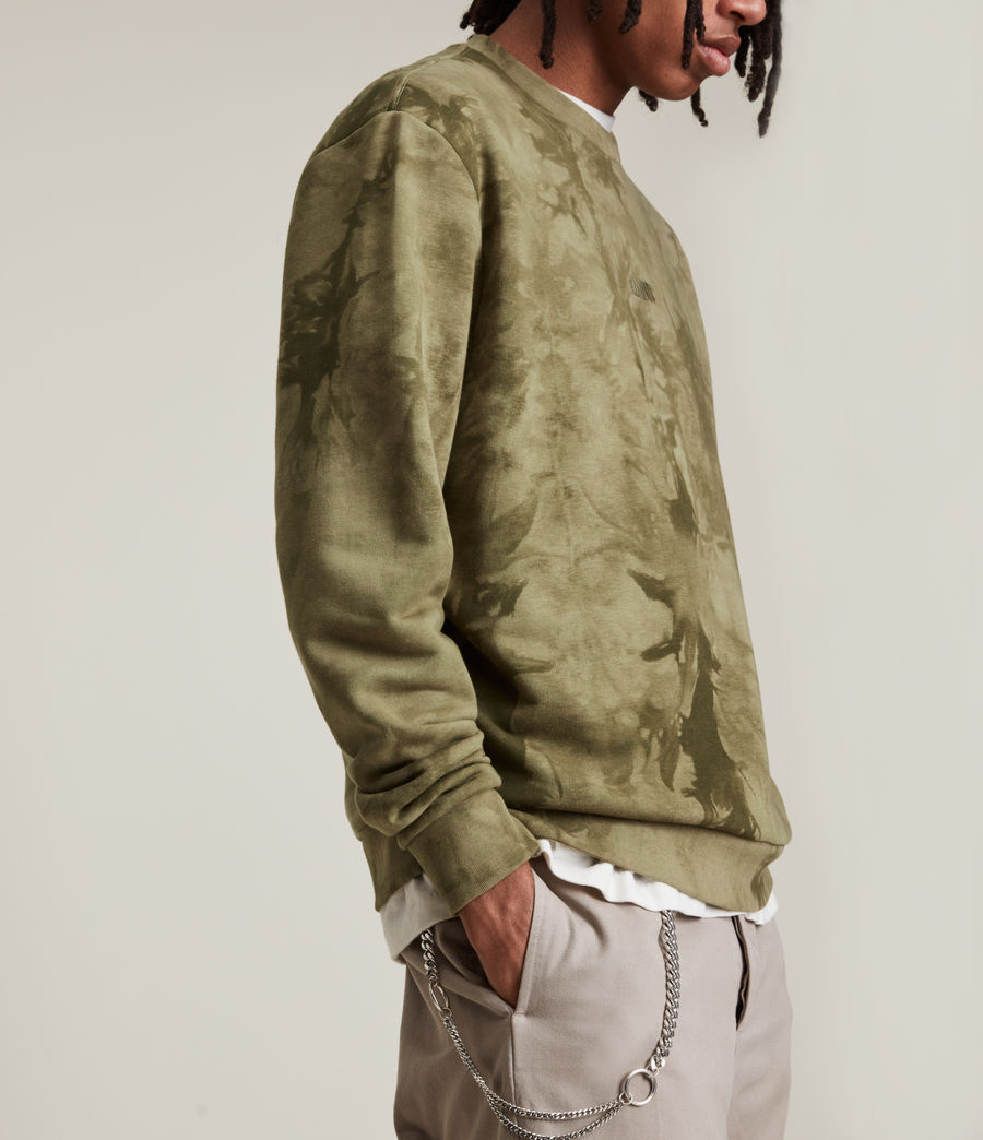 Men's Clay Tie Dye Crew Sweatshirt (sandalwood_brown) - Image 4
