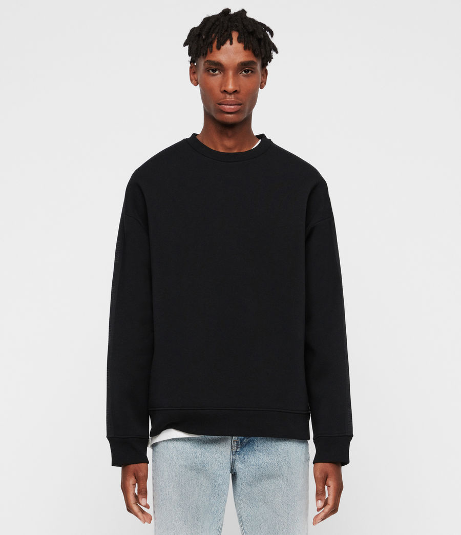 Mens Hayford Crew Sweatshirt (black) - Image 1