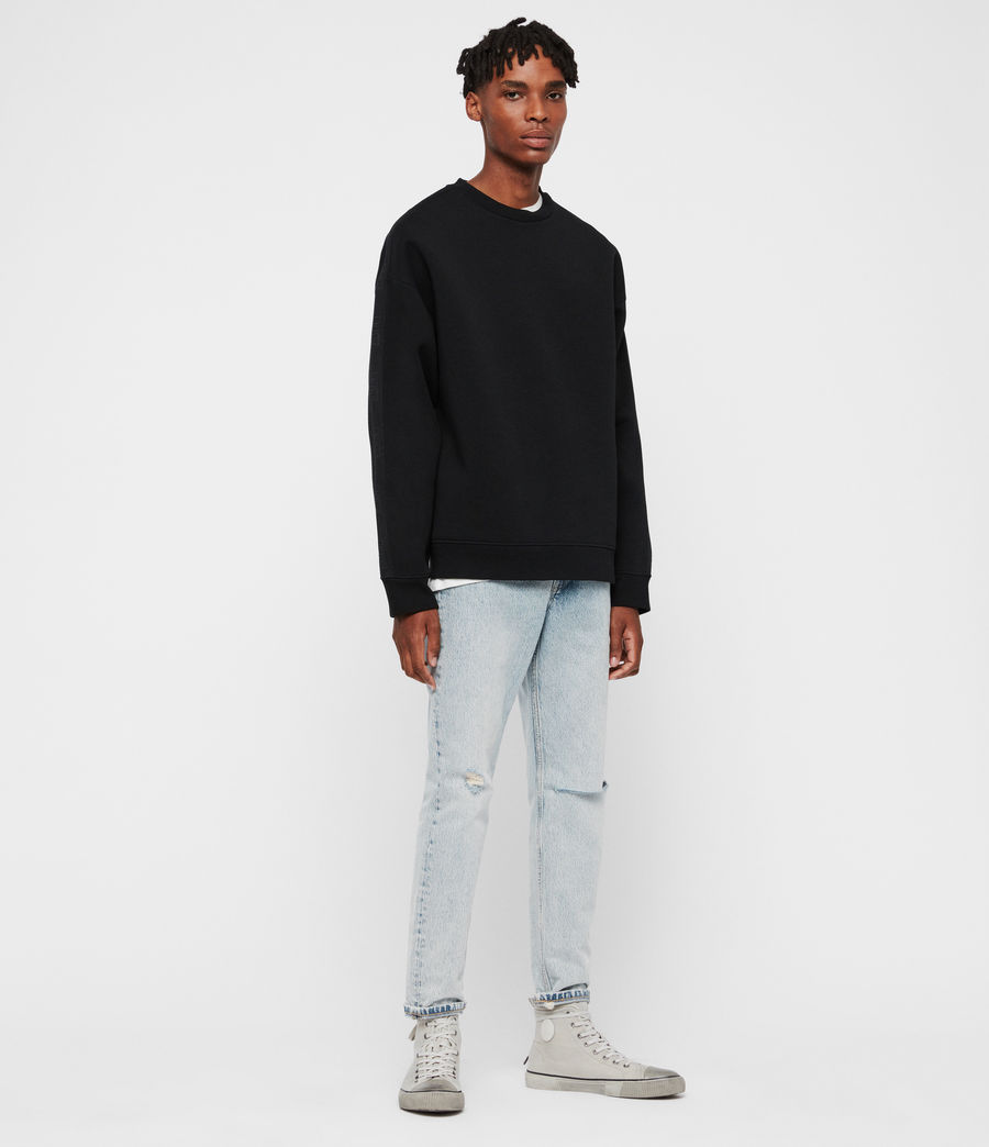 Men's Hayford Crew Sweatshirt (black) - Image 2